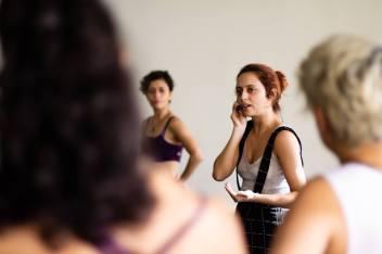 Congresso de Dança de Salão Contemporânea, Belo Horizonte, oficina de Tango Queer em 2018. Foto Fabricio Goulart